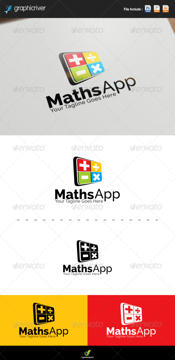 GraphicRiver Maths App Logo Template 8170882