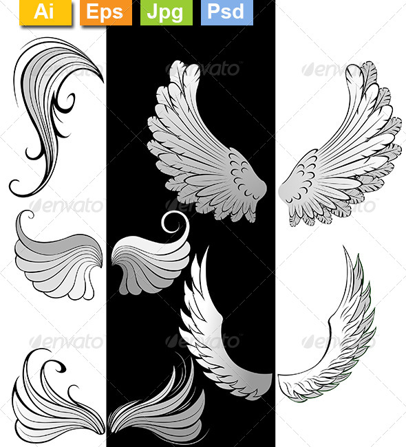 GraphicRiver Stylized Wings 8170988