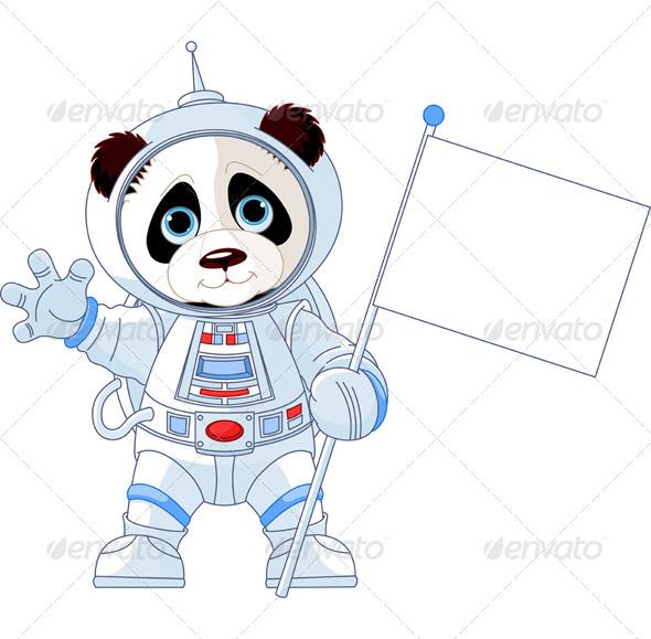GraphicRiver Astronaut Panda 8170989