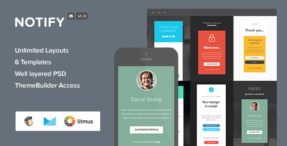 ThemeForest Notify Notification Email & Themebuilder Access 8143225