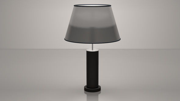 Simple Table Lamp - 3DOcean Item for Sale