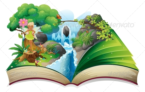 GraphicRiver Book with Nature and Fairy 8171120