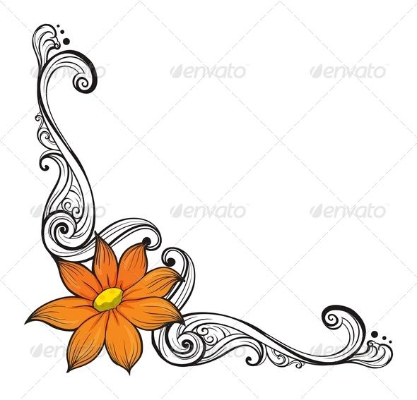 GraphicRiver Floral Border 8171121