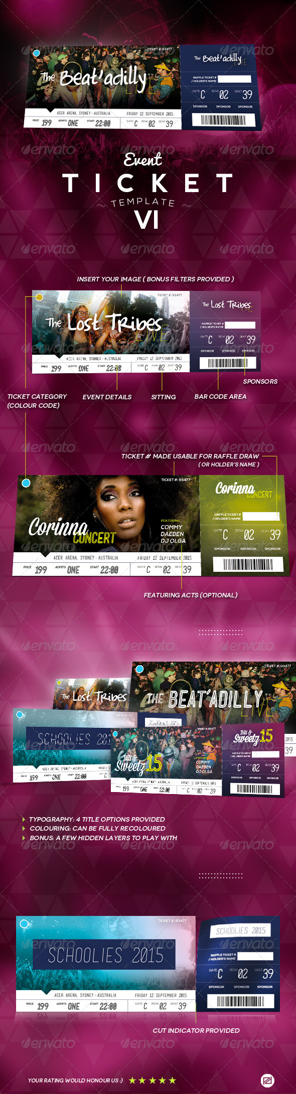 GraphicRiver Event Ticket Template VI 8171314