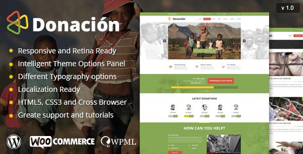 ThemeForest Donation Responsive WordPress Theme 8101199