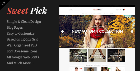 Sweet Pick | Modern E-commerce Shop Template - Shopping Retail