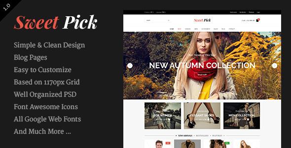 Sweet Pick | Modern E-commerce Shop Template
