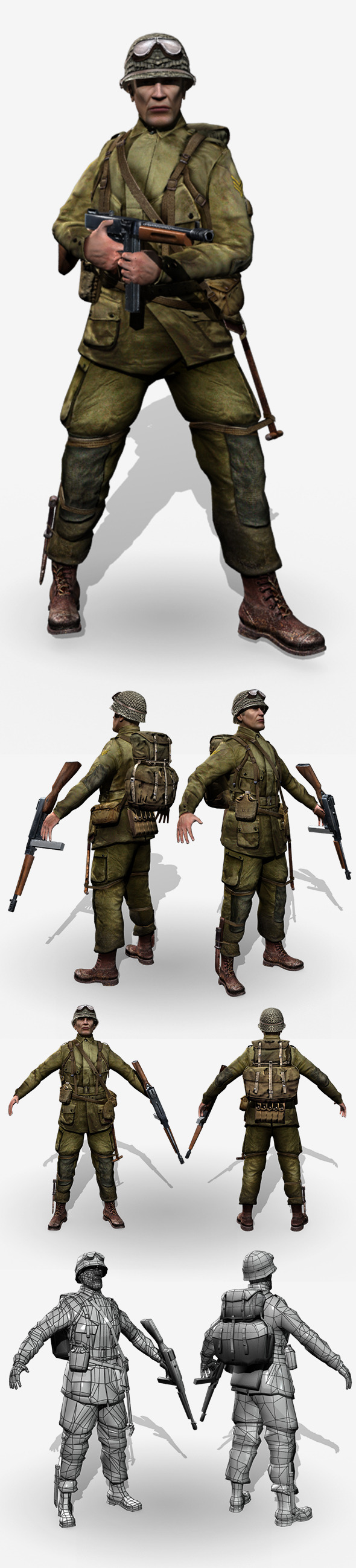 3DOcean WWII American Soldier 8171944
