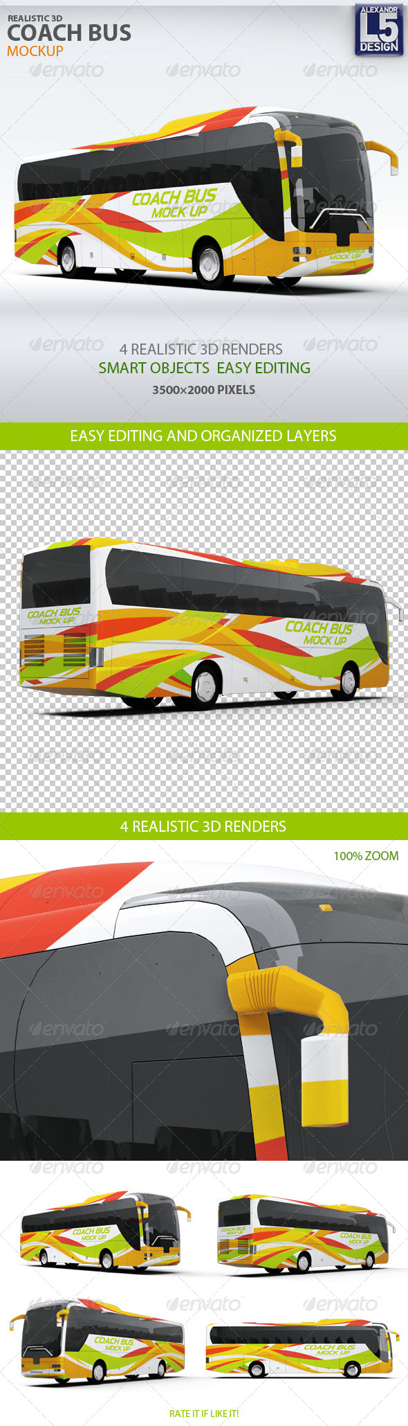 GraphicRiver Coach Bus mockup 8171980