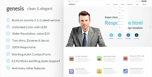 Genesis - Corporate Joomla Template - Corporate Joomla