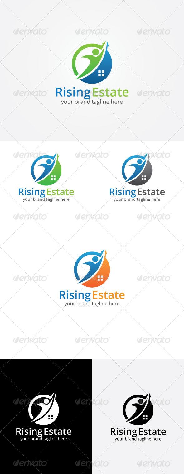 GraphicRiver Rising Estate Logo Template 8171999