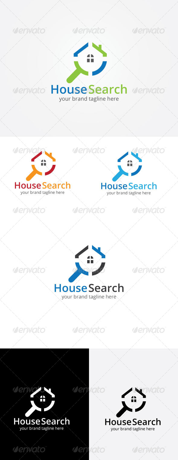 GraphicRiver House Search Logo Template 8172026