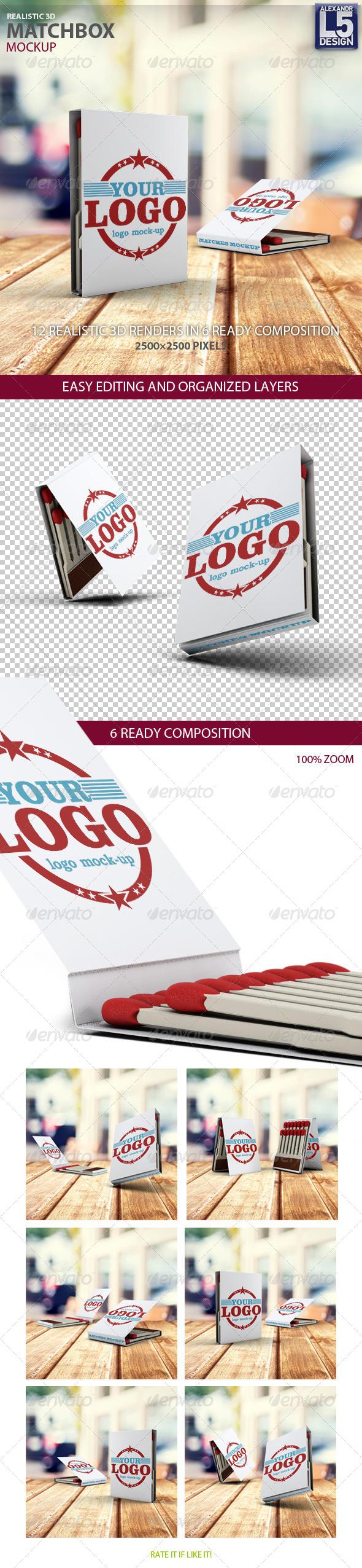 GraphicRiver Matchbook Mockup 8172036