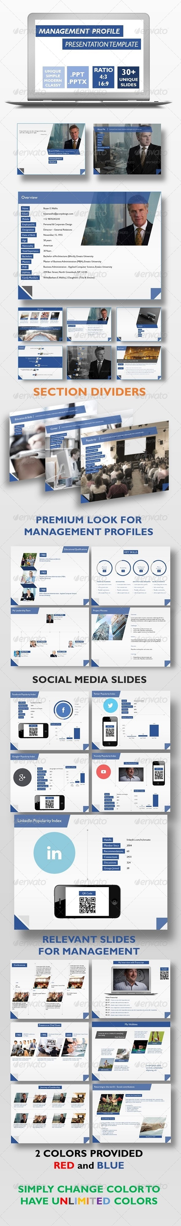 GraphicRiver Management Profile Presentation Template 8119290