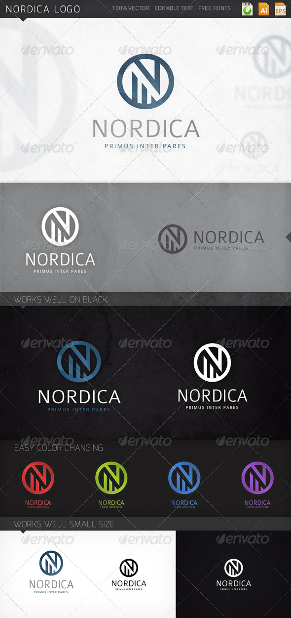 GraphicRiver Nordica Logo 8172374