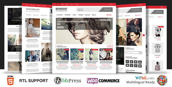 Newsright - Wordpress Premium HD News & Magazine - Blog / Magazine WordPress