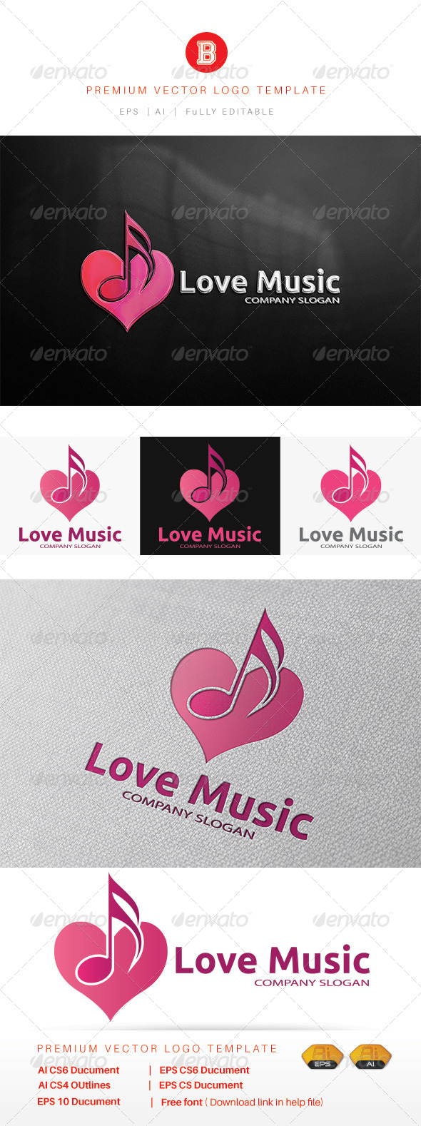 GraphicRiver Love Music 8172399