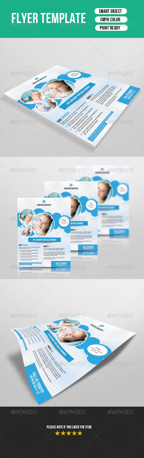 GraphicRiver Dental Clinic Flyer 8172513