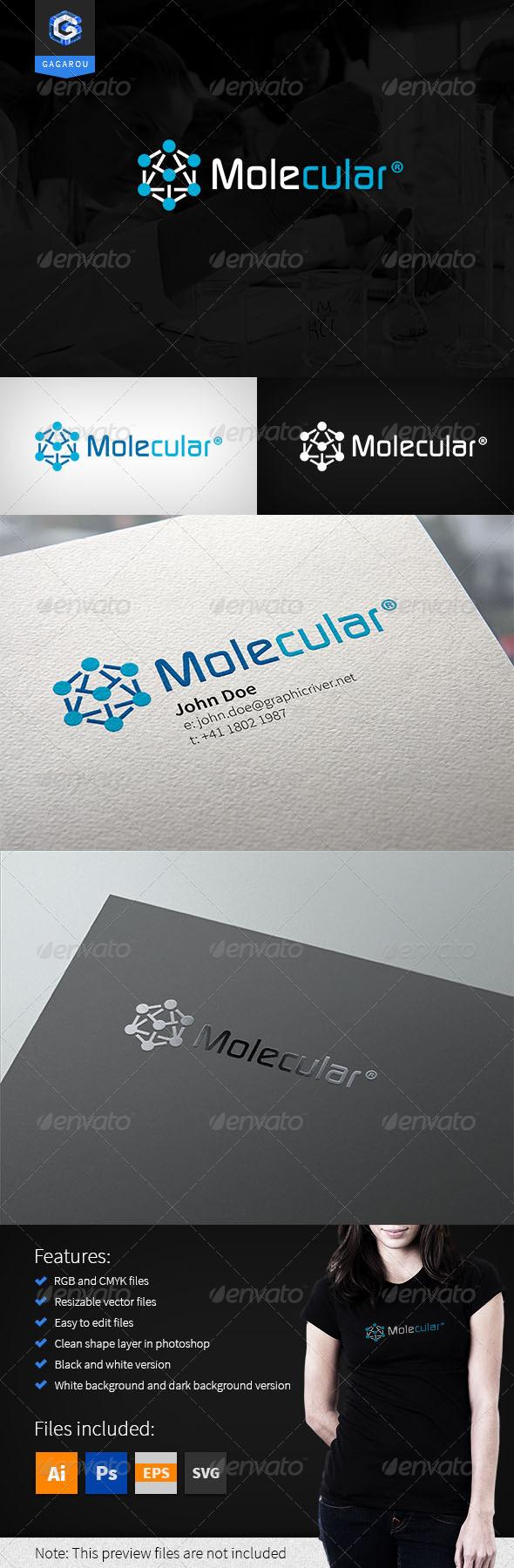 GraphicRiver Molecular Logo 8172814