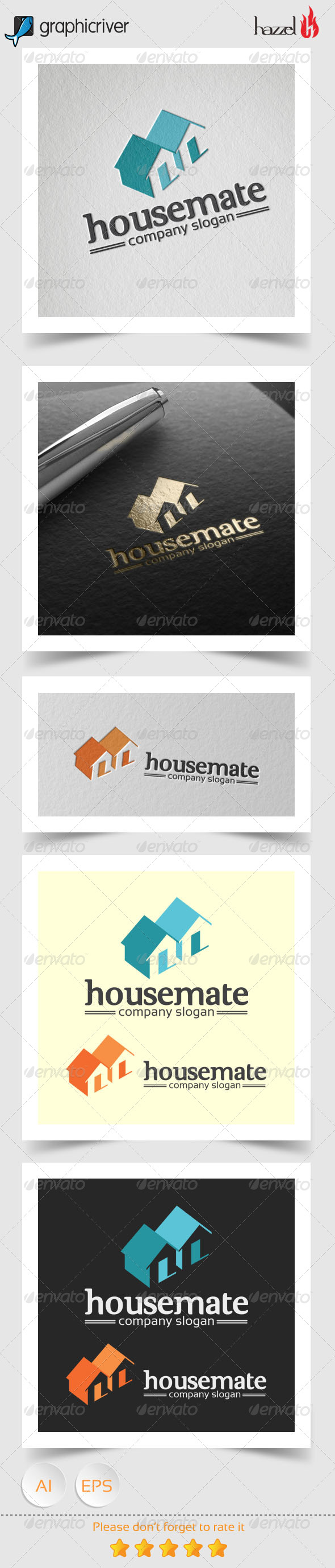 GraphicRiver Housemate Logo 8172833