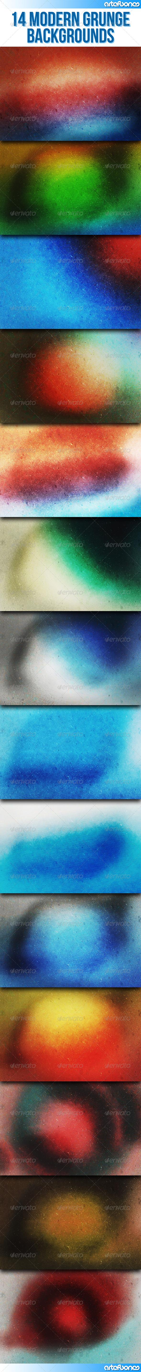 GraphicRiver 14 Modern Grunge Backgrounds 8140051