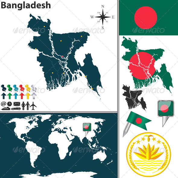 GraphicRiver Map of Bangladesh 8172862
