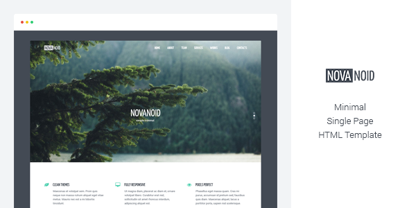 Novanoid - Simple Minimal - Site Templates