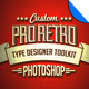 Pro Retro Text Designer Toolkit - GraphicRiver Item for Sale