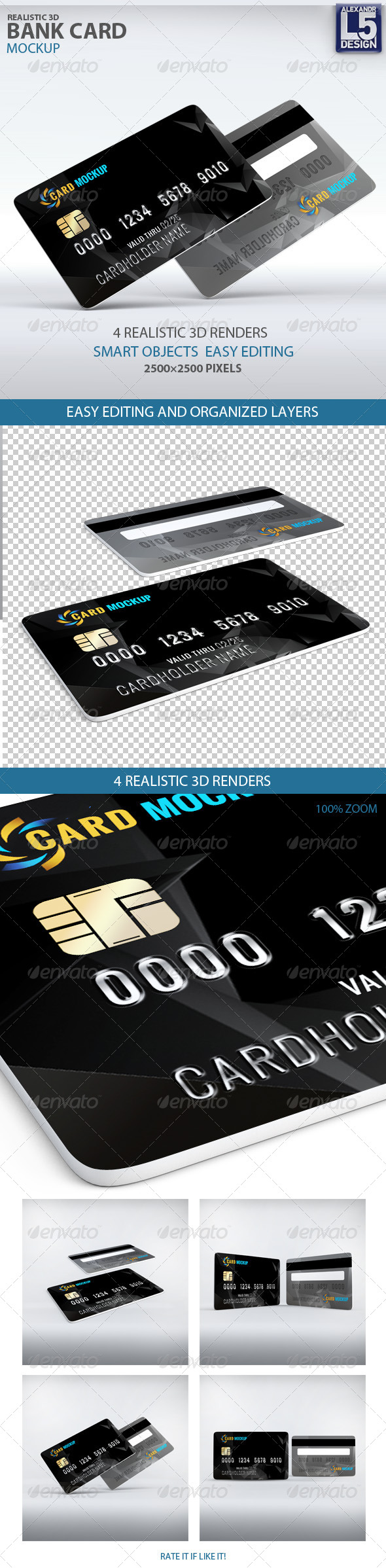 GraphicRiver Bank Card Mockup 8171939