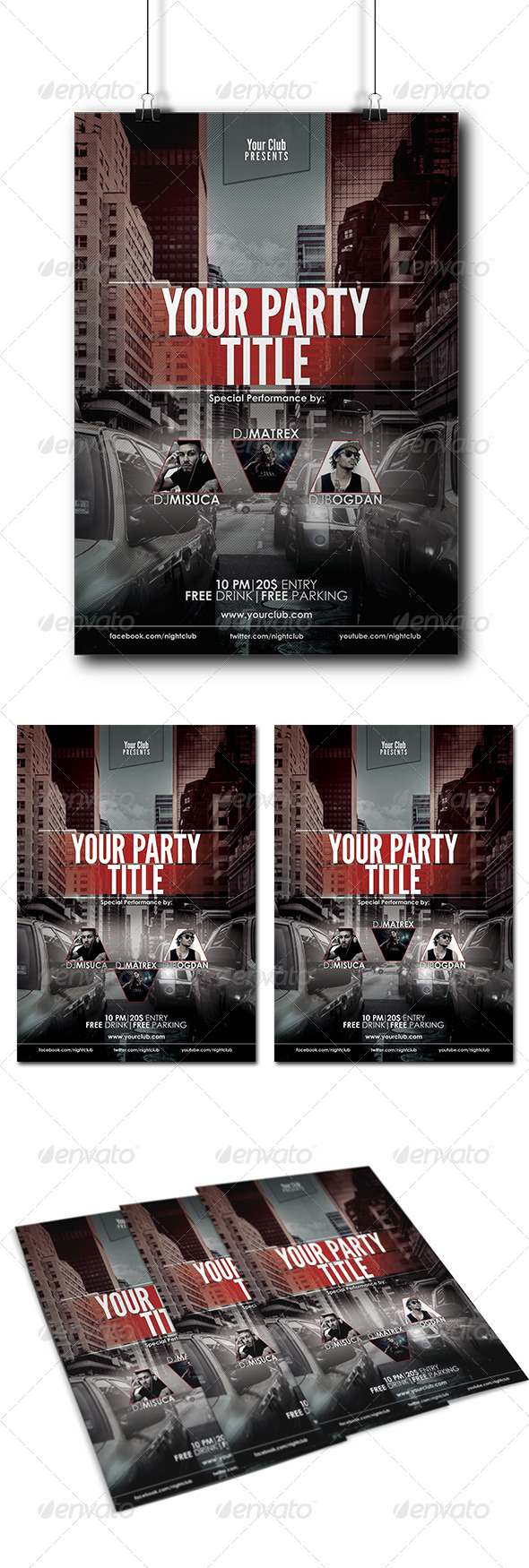 GraphicRiver Event Club Party Flyer Poster 8173252