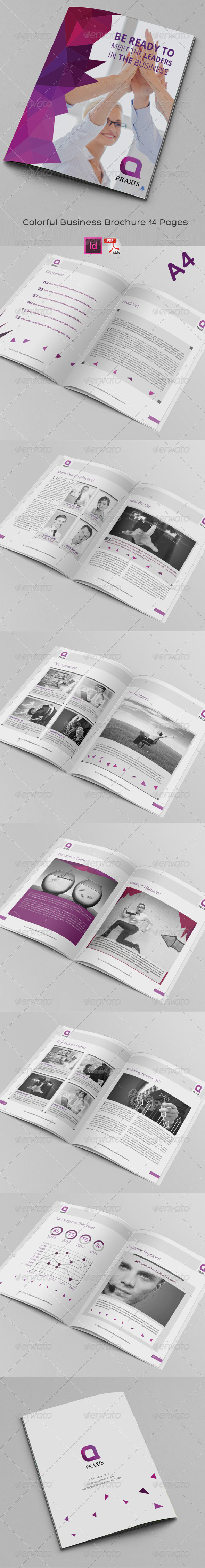 GraphicRiver Colorful Business Brochure 14 Pages 8173263