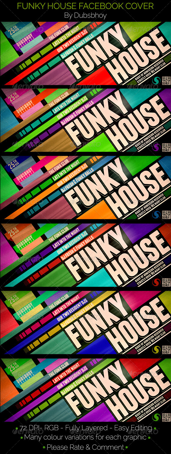 GraphicRiver Funky House Facebook Cover 8173340