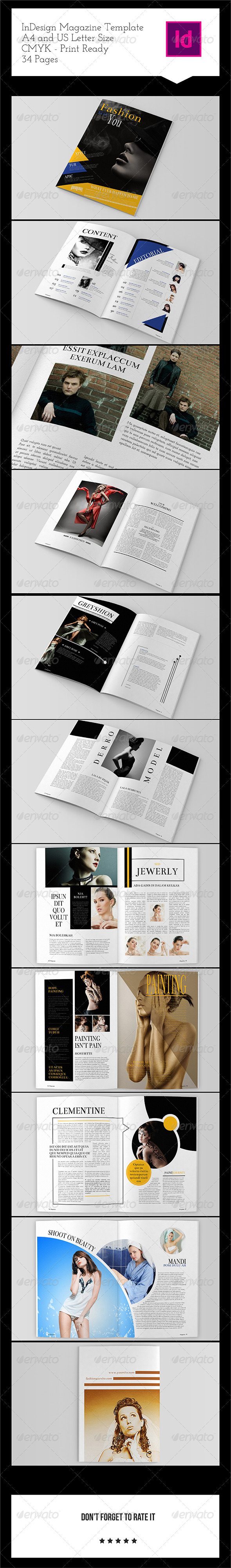 GraphicRiver Fashion Magazine Template 34 Pages 8173353