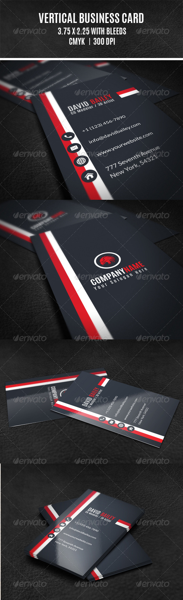 GraphicRiver Vertical Business Card 8173300