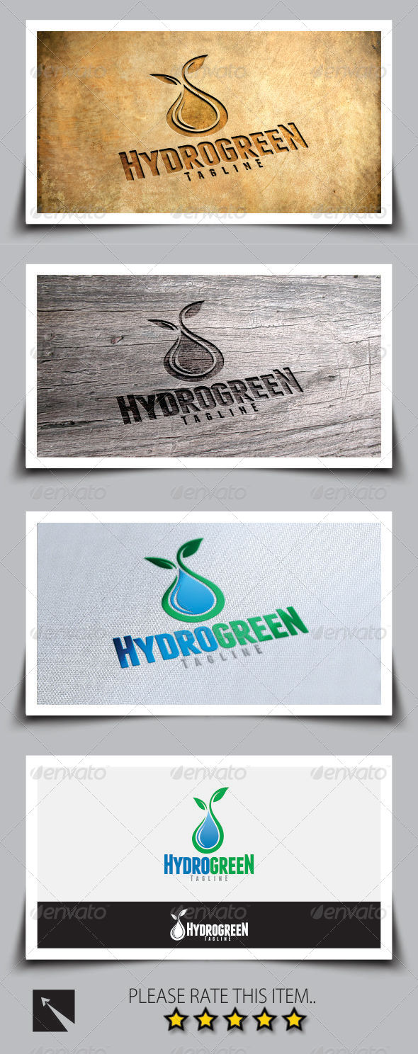 GraphicRiver Hydro Green Logo Template 8173518
