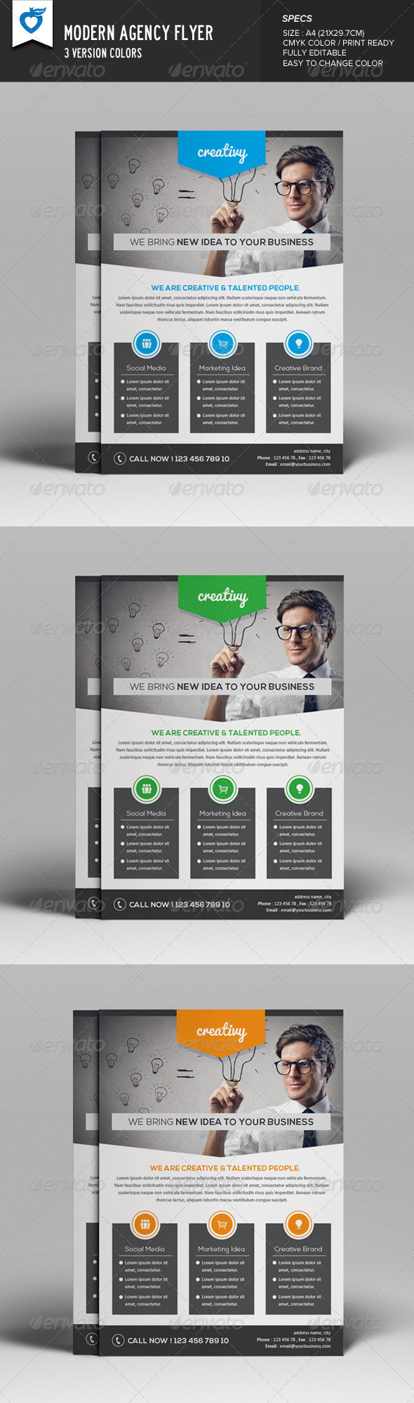 GraphicRiver Modern Agency Flyer 8173317
