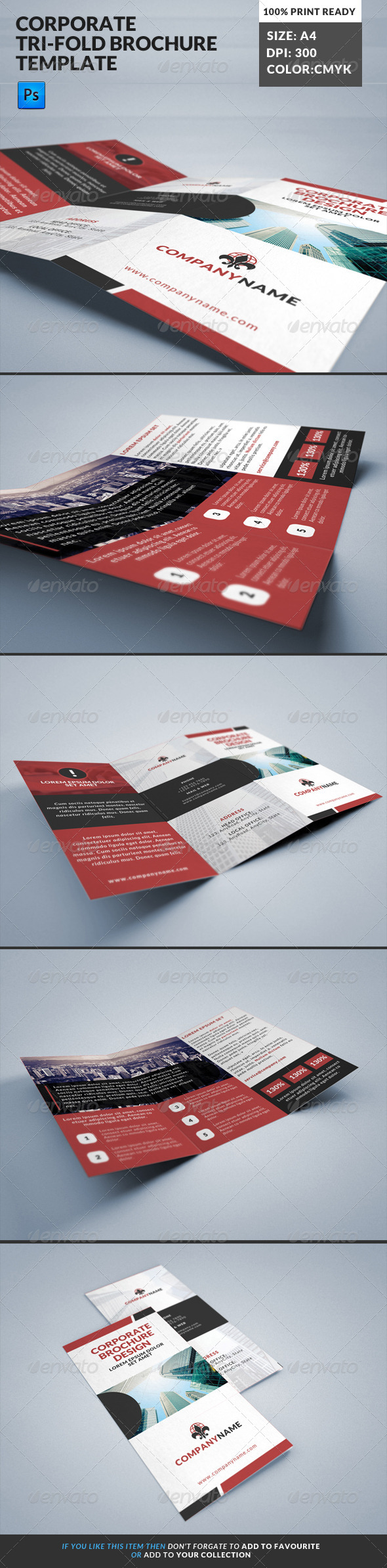GraphicRiver Corporate Tri-Fold Brochures Template 14 8173809