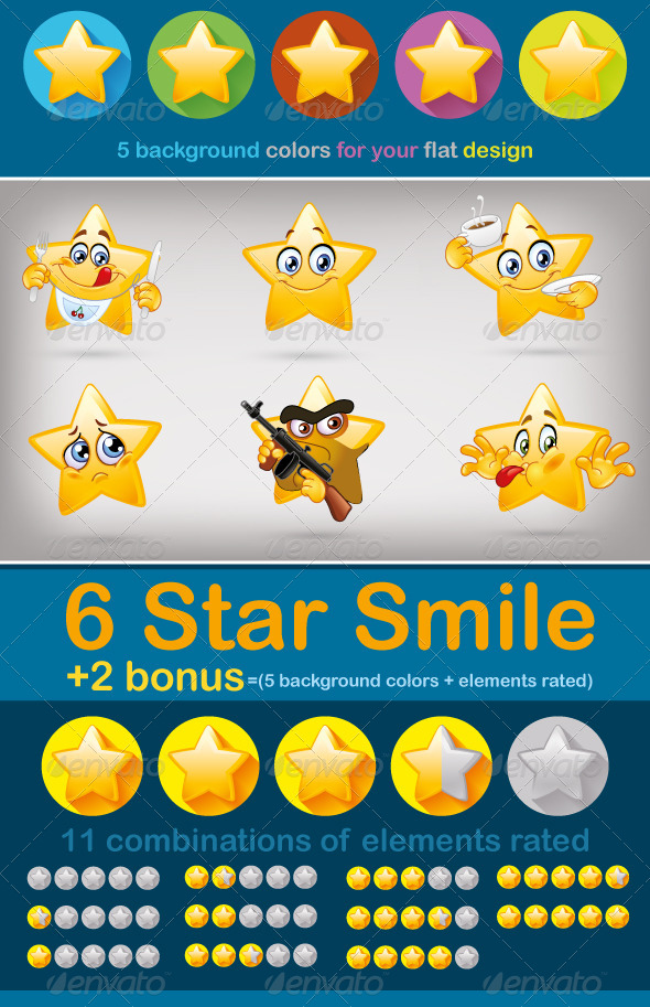 GraphicRiver Star Smile 8137842
