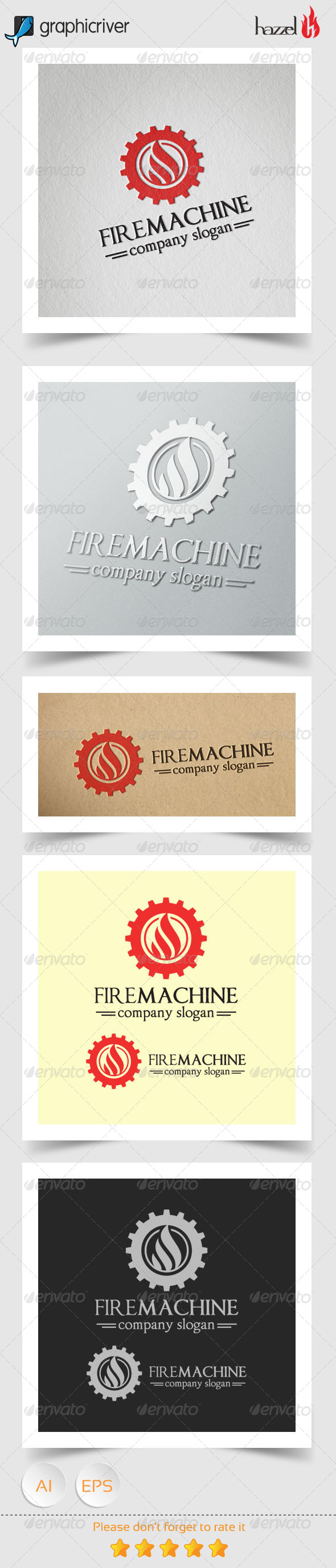 GraphicRiver Fire Machine Logo 8174043