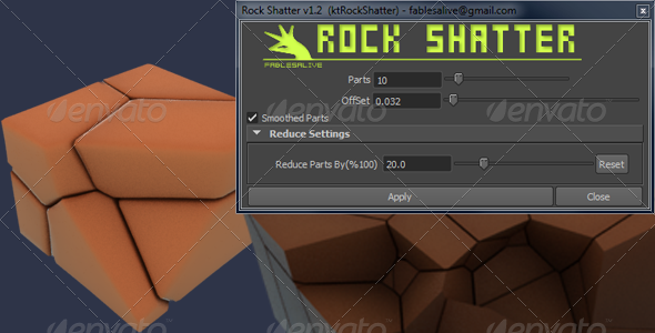 Rock Shatter - 3DOcean Item for Sale