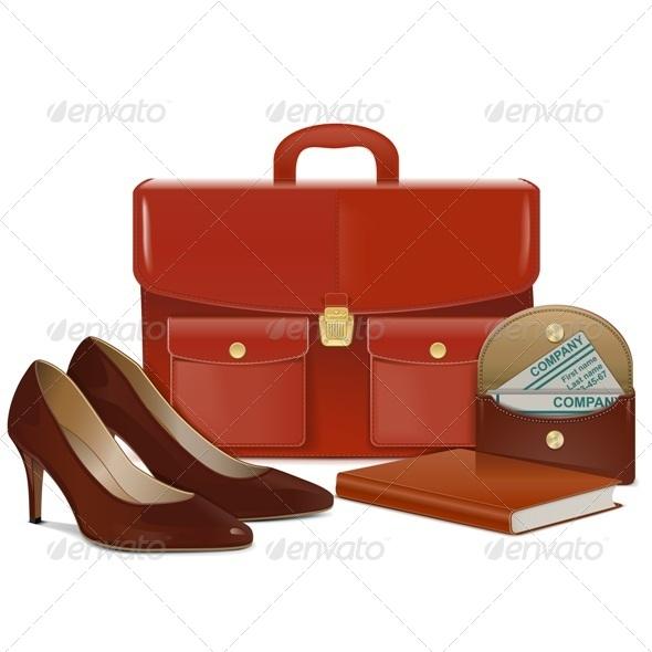 GraphicRiver Businesswoman Accessories 8174161