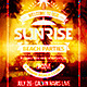 Sunrise Beach Party Flyer - GraphicRiver Item for Sale