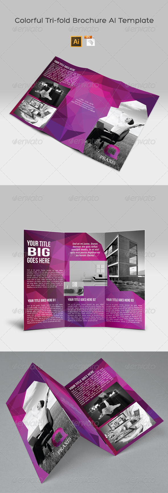 GraphicRiver Colorful Tri-fold Brochure AI Template 8174490