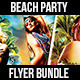 Beach Party Flyer Bundle V2 - GraphicRiver Item for Sale