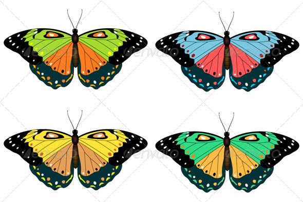 GraphicRiver Set of Butterflies 8174609