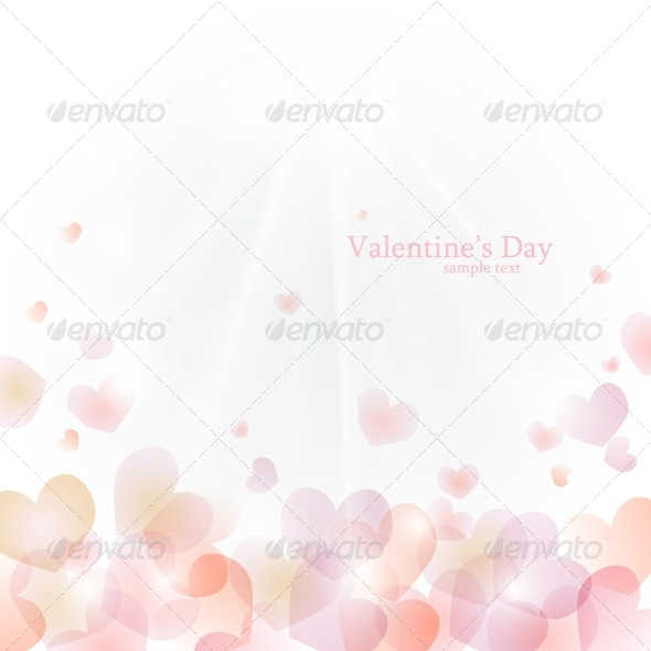GraphicRiver Vector background to Valentine s Day with hearts 8174611
