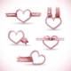 Banner in the Form of a Heart with Ribbon - GraphicRiver Item for Sale