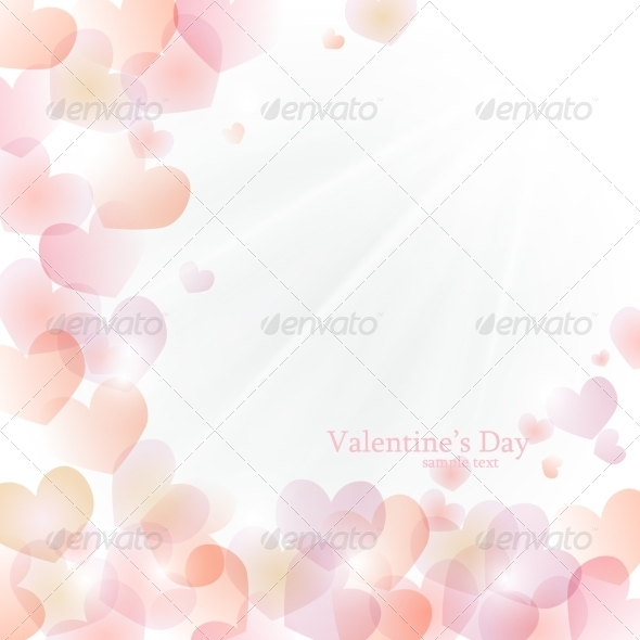 GraphicRiver Vector Bright Sunny Background of Hearts 8174628