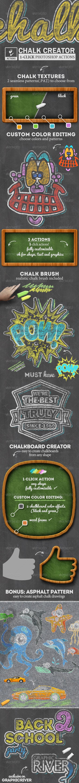 GraphicRiver Chalk and Chalkboard Photoshop Creator 8174689