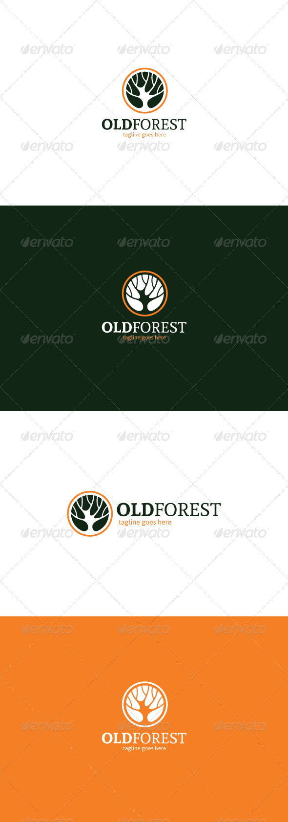 GraphicRiver Old Forest Logo 8174715